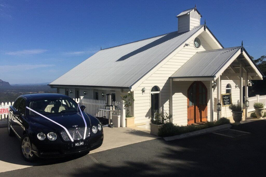 Tiffany's Chapel Maleny milimo Brisbane limo Car Hire Transfers